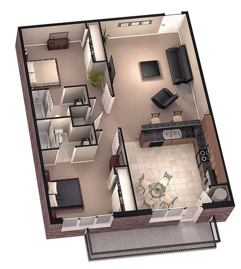 House Plans With Basement 24 X 44 brookside 3d floor plan 1 by dave5264 on deviantart