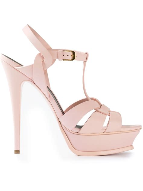 St Flowina Pink T3010 1 lyst laurent tribute sandal in pink