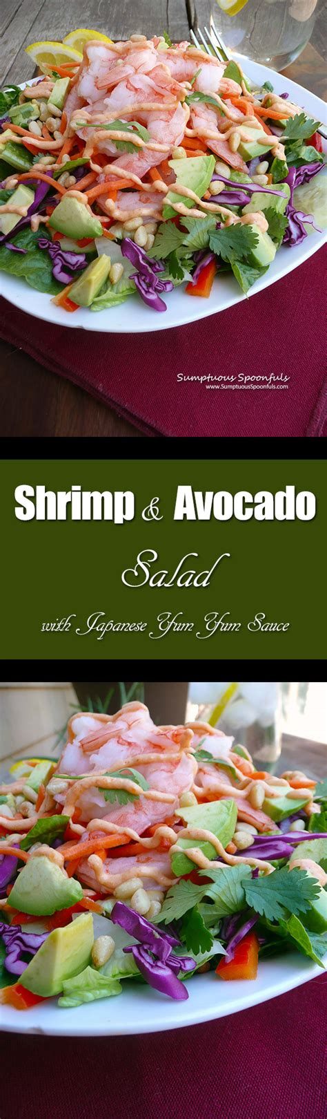 shrimp avocado salad w japanese yum yum sauce recipe dinner salad recipes shrimp avocado