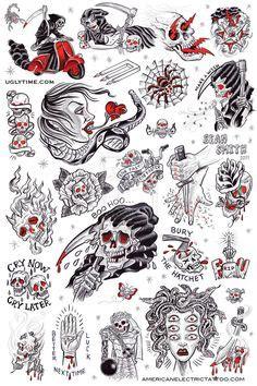 tattoo parlour fareham traditional style grim reaper tattoo flash sheet print