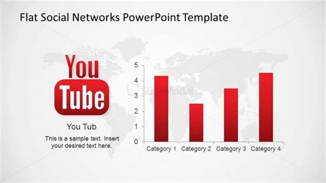 powerpoint templates for youtube youtube social network bar chart metrics slidemodel