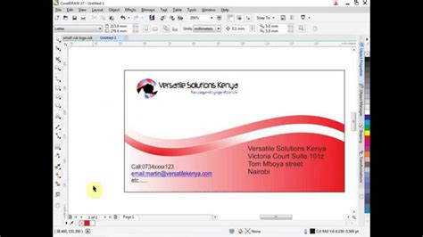 how to design an invitation card using coreldraw how to create a business card in coreldraw 7 youtube