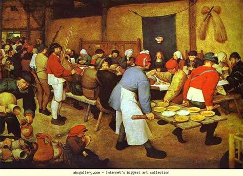 l alimentazione medievale pieter bruegel the elder the peasant wedding olga s gallery