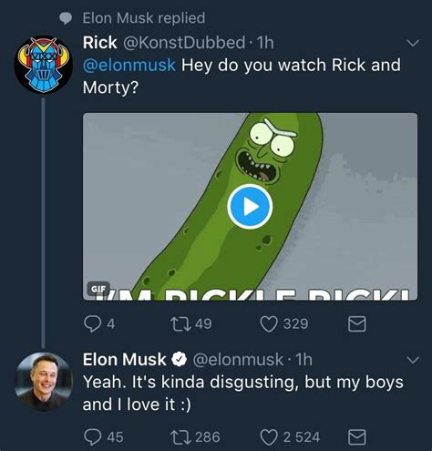 elon musk rick and morty twitter elon musk watches rick and morty he truly is the real