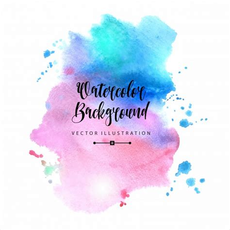 beautiful abstract watercolor background vector free