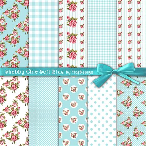 shabby chic soft blue digital collage sheet digital