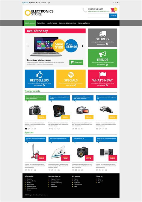 Responsive Electronics Store Magento Theme Web Design Templates Website Templates Download Store Web Template