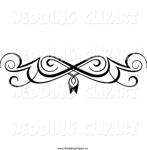 wedding design elements vector vector marriage clipart of a black and white swirl border