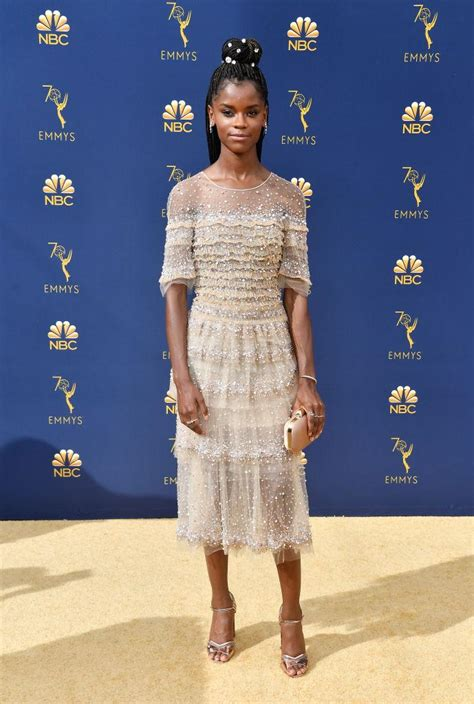 letitia wright emmy 2018 2018 emmy awards red carpet best dressed looks jessica