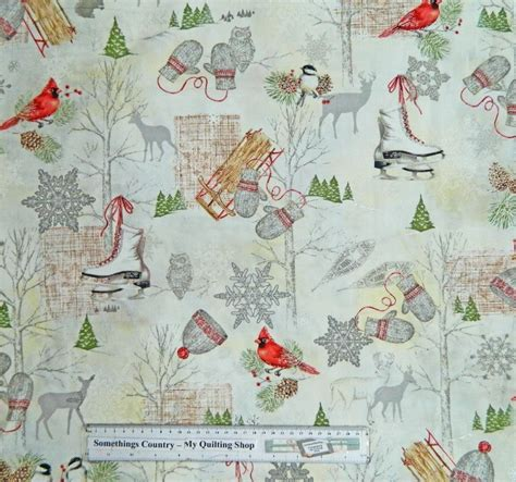Patchwork And Quilting Fabric - patchwork quilting sewing fabric winter celebration