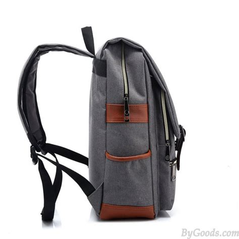 ransel 505 black vintage travel backpack leisure canvas with leather