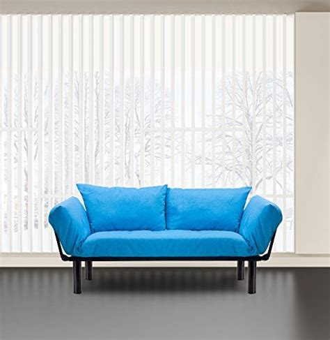 merax colorful line fabric futon sofa sleeper