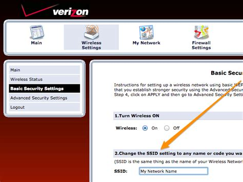 how reset verizon router password how to change the wi fi network name ssid on your