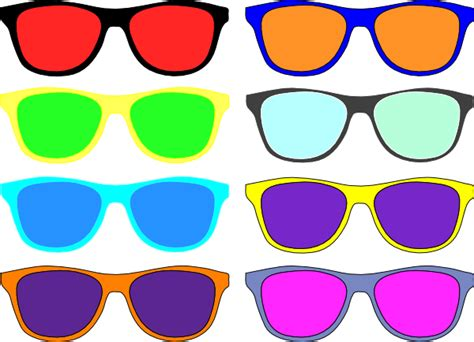 colorful glasses colorful sunglasses clip at clker vector clip