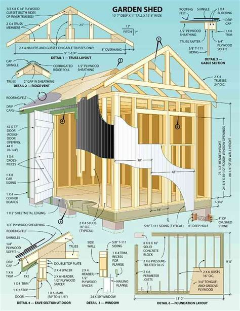shed plans ideas  pinterest storage shed