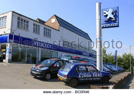 peugeot car dealership french peugeot car dealership and forecourt with the