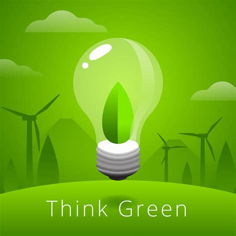 Think Green think green vector free vector stock