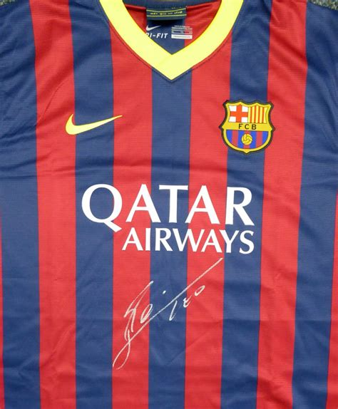 barcelona qatar airways jersey lionel quot leo quot messi autographed barcelona qatar airways