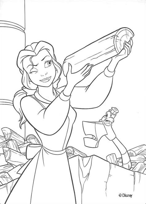 belle reading coloring page belle chops wood coloring pages hellokids com