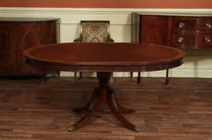 Round to 66 quot oval mahogany dining table reproduction antique dining