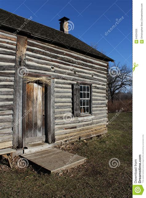 Blue Sky Cabins Lodge by Log Cabin And Blue Sky Stock Photo Image 64234326