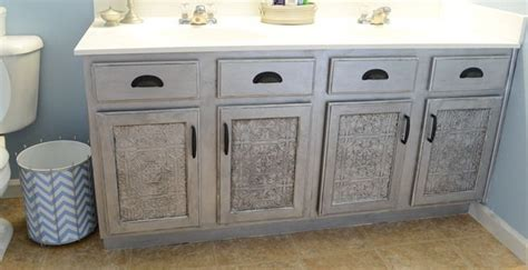 Tile Cabinets faux tin tile cabinets infarrantly creative