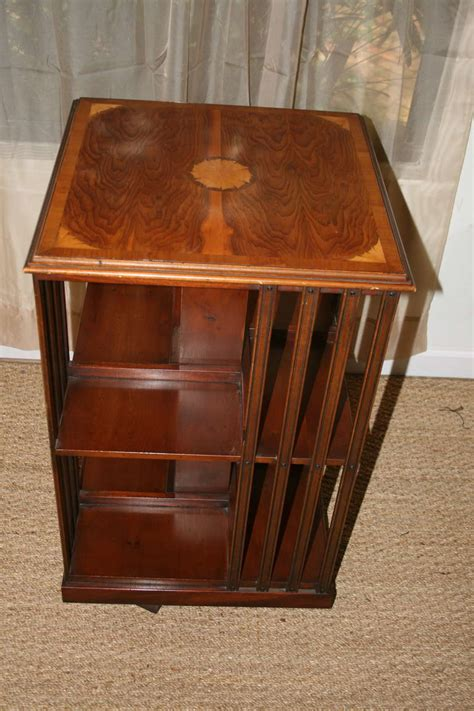 swivel rosewood bookcase table for sale at 1stdibs