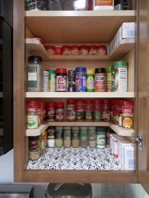 kitchen cabinet shelf organizers diy spicy shelf organizer hometalk