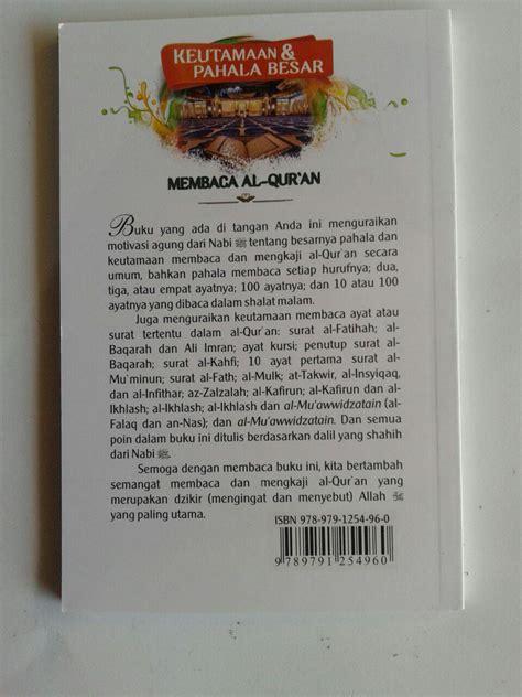 Buku Kitab Ayat Kursi Keutamaan Tafsir Dan Fawaa Idnya buku saku keutamaan dan pahala besar membaca al qur an