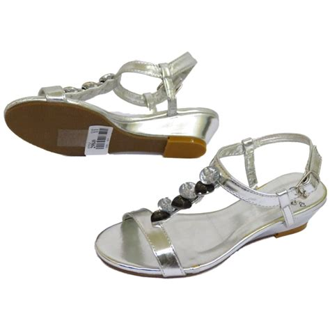 sandal second childrens silver t bar wedge sandals