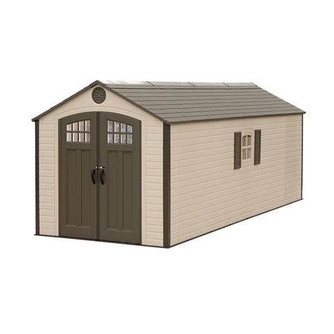 lifetime 8 ft x 20 ft plastic storage shed 60120 the