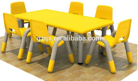 Can A Get A Table by 10 Years Service Time Kid Plastic Chairs And Tables Kindergarten Furniture Day School Furniture