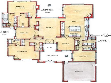 modern open floor plans modern open floor plans single story open floor plans