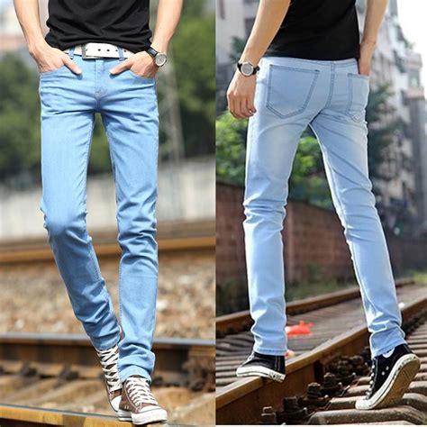 light denim skinny jeans mens 2017 light blue jeans for men high quality fashionable