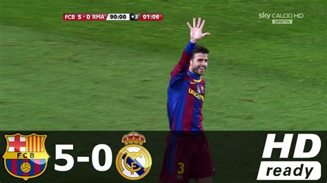real madrid vs barcelona highlights 0 4 goals video barcelona vs real madrid 5 0 all goals extended