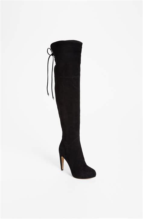 sam edelman the knee boots sam edelman the knee boot in black black suede