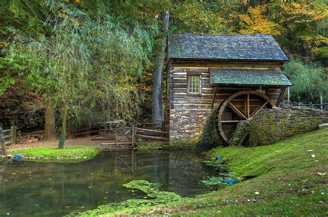 Colonial Plans by Mill Pond In Woods Photograph By William Jobes