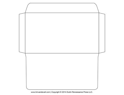 envelope template tim van de vall comics printables for kids