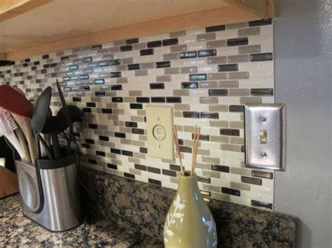 kitchen backsplash stick on peel stick backsplash idea decozilla