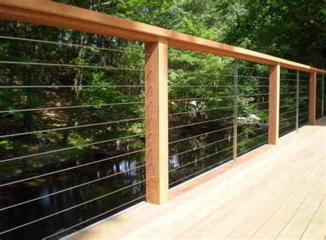 Patio Railing Deck Patio Porch Balcony Cable Railing Modern Deck