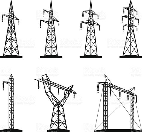 What Is Included In Architectural Plans electrical transmission tower types in perspective stock