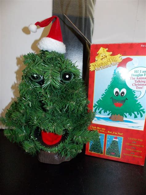 talking xmas tree gemmy 20 quot douglas fir talking tree singing tree 1996 animated prop