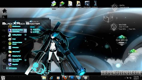 themes for windows 7 free download anime black rock shooter theme for windows 7