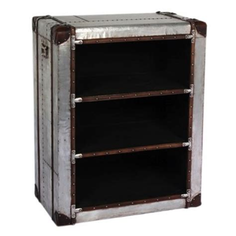 silver industrial metal bookcase free delivery coco54