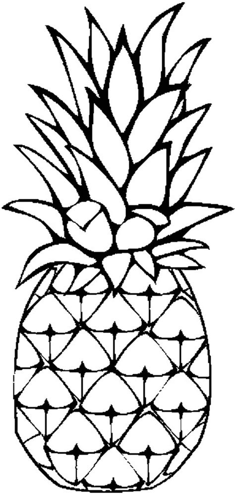 pineapple coloring pages pineapple clip art panda coloring pages pinterest