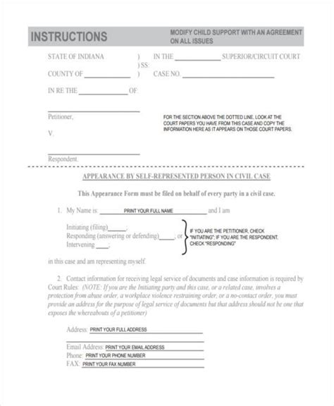 Support Letter Doc Sle Child Support Agreement Free Printable Blank Resume Template Exle Bagnas Personal