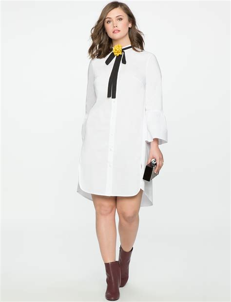 Flare Sleeve Shirt shirt dress with flare sleeves s plus size dresses