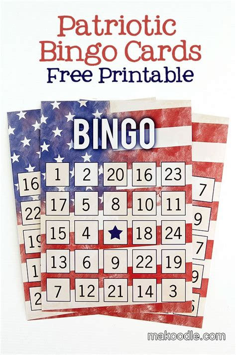 printable christmas in july cards patriotic printable bingo cards fourth of july pinterest