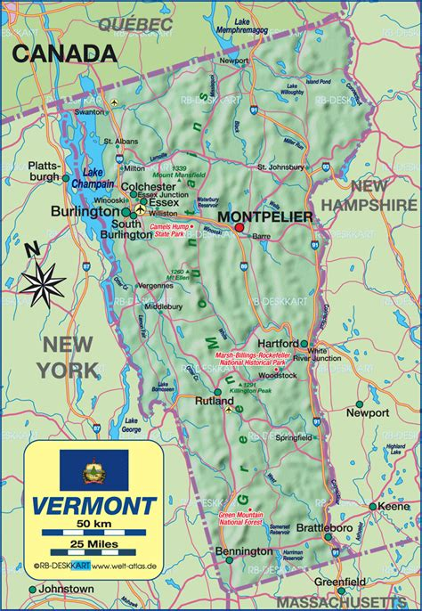 map of usa vermont vermont usa map