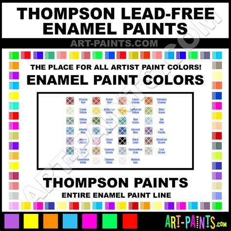 thompson lead free enamel paint colors thompson lead free paint colors lead free color lead
